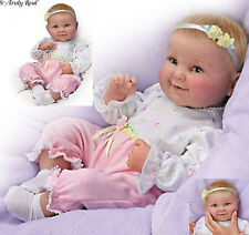 Ashton Drake Sweet Cheeks Touch Activated giggles coos Poseable Baby Doll