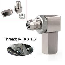 90° Sensor Spacer Engine Light CEL Check Bung Mini Catalytic Converter for O2