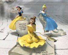 Disney Iconic Princesses Ornaments Snow White Cinderella Belle Bradford Exchange