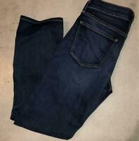 Lucky Brand Dark Wash Brooke Capri Skinny Crop Jeans Denim Size 2 / 26