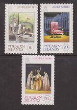 QEII 1977 Silver Jubilee MNH Stamp Set Pitcairn Islands SG 171-173