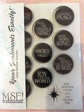 My Sentiments Exactly Clear Acrylic Stamps Y537 True Meaning Tags Christmas NEW