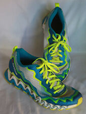 Reebok ZigTech Athletic Shoes Women's 9 Blue Green White Breathable