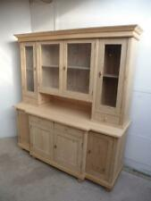 An Extra Large Antique/Old Pine 4 Door Kitchen Dresser To Paint/Wax