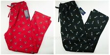 NWT Polo Ralph Lauren MENS LIMITED EDITION Polo Bear Red Black Pajama Pants S,M