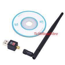 ✔ ANTENNA USB WIRELESS WIFI CHIAVETTA WI-FI 300n Mbps ADATTATORE YAGI RP-SMA