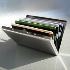 Mens Stainless Steel Pocket Credit ID Card Mini Wallet Holder Pocket Case Box ES