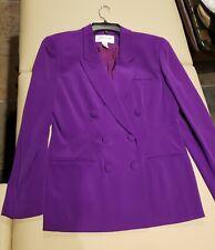 NWT Jones New York Purple Silk Blazer Jacket Size 10