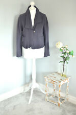 "KRINES Berlin grey 100% wool button up lagenlook arty jacket MEDIUM 20"" bust"