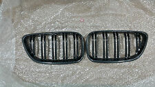 BMW F22 F23 2 Series CARBON LOOK Kidney Grilles  220d 218d 235i 240i