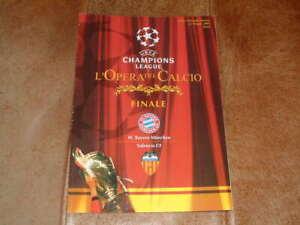 2001 Champions League Final Bayern Munich v Valencia Very Good Condition + T/S