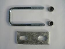 M10 Square U-bolt u bolt for Boat trailer 50 x 120 x 10mm with Nylocs and Plate