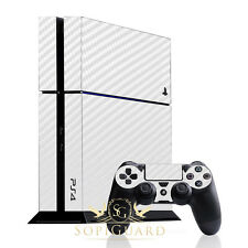 SopiGuard White Carbon Fiber Skin Full Body Protector Sony PS4 PlayStation 4