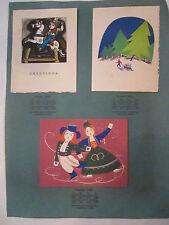 3 VINTAGE GREETING CARDS - NO. 10525 - NO. 10515 - NO. 10502 -  TUB Q