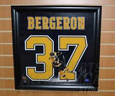 Patrice Bergeron Boston Bruins Signed Autographed Jersey Name Framed Display