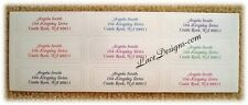 90 Personalized Custom Embossed Ivory Bridal Wedding Address Labels