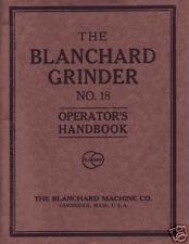 Blanchard No. 18 Operator's Handbook Manual Older