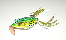 Soft Topwater Light Green Life-Like Frog Fishing Lure Bait Tackle 4 Big Fish NEW
