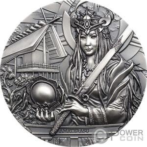 AMATERASU Gods Of The World 3 Oz Silber Münze 20$ Cook Islands 2021