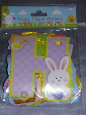 HAPPY EASTER BUNTING GARLAND 2 METRES HANGING DECORATION PARTY DECOR