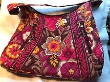 Vera Bradley Multicolored Reds Shoulder Handbag Purse Bag