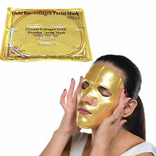 10x Premium Crystal Collagen Gold Powder Face Masks Anti Ageing Wrinkle