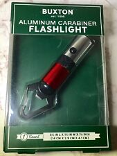 Buxton Red Flashlight Aluminum Carabiner Camping Tool Bottle Opener Boxed