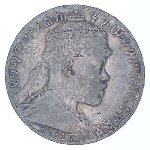 Better Date - 1880s Ethiopia 1 Birr - SILVER *042