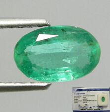 Gioielli e gemme di smeraldo ovale