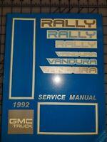 1991 GMC Rally Vandura Magnavan Service Shop Repair Workshop Manual OEM 1991 GM