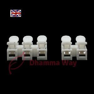 10x  2/3 Pin Wire Electrical Cable Push Connectors Terminal Quick Splice Locking