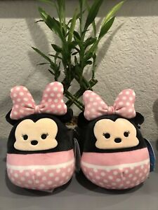 Lot Of 2! -Squishmallow Minnie Mouse- 5 in Disney Collectable Stuffed Animal NEW