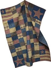 "AMERICANA PATRIOTIC PATCH THROW 50""x60"" COUNTRY"