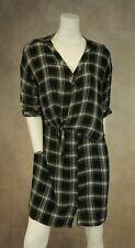 River Island Casual Black White Plaid Dress Tunic Size 16