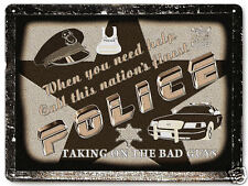 POLICE metal SIGN OFFICER COP LAW RETRO vintage style wall decor PLAQUE ART 333