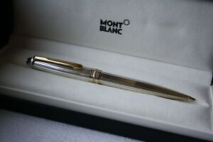 MONTBLANC Solitaire STERLING SILVER 925 Pinstripe GOLD 165 Pencil W.-GERMANY
