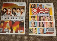 Wii Singing Karaoke Games (2 pack) Disney Sing It and Glee Karaoke Revolution