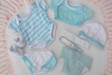 """Pyjama ❤ Berenguer La Newborn ❤ Bleu Vêtements Layette pour 14"""" Bébé Poupée Garçon Neuf"""