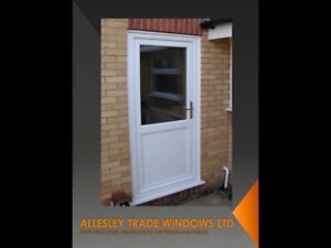 Upvc Back Door White 900 Wide By 2100 High