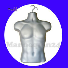New ListingMale Mannequin Torso Body Form Display - Grey (Silver) Men Hanging Dress Form