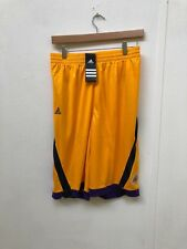 Adidas LA Lakers Basketball Kids Club Shorts - Various Sizes - Yellow - New