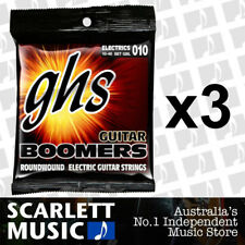 3x GHS GBL Guitar Boomers Roundwound Light Electric Guitar Strings 10 - 46