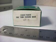 General Electric GE20A Edison Base Fuses, 125 volt, 20 amp, Box of 4
