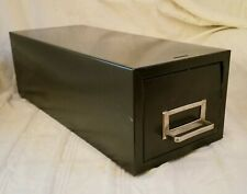 Industrial Gray Metal Index Box File Holder Silver Draw Handle