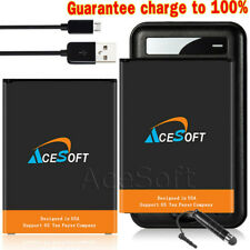 2x 4420mAh Battery Wall Charger Usb Cable for T-Mobile Lg V10 H901 Smartphone