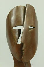 Figurine Bronze Sculpture Statue Art Deco Modern Art Faces By Picasso Marble LRG