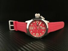 Swiss Legend Men's 10543 Submersible Red Dial, Red Silicone Watch