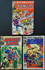 Lot of 3 Avengers Annual #11 13 14 King Size ALL NM 9.4-9.6 / 1982 Marvel Comics