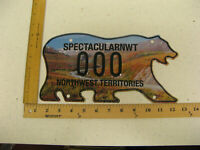 Northwest Territories Polar Bear License Plate SAMPLE DEMPSTER HIGHWAY 000 MINT