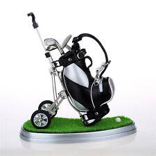 10L0L Mini desktop golf bag pen holder w/ green & golf pens 5-piece set US STOCK